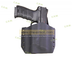 KWA HK45 with X300 Flash Light holster by CRW Kydex